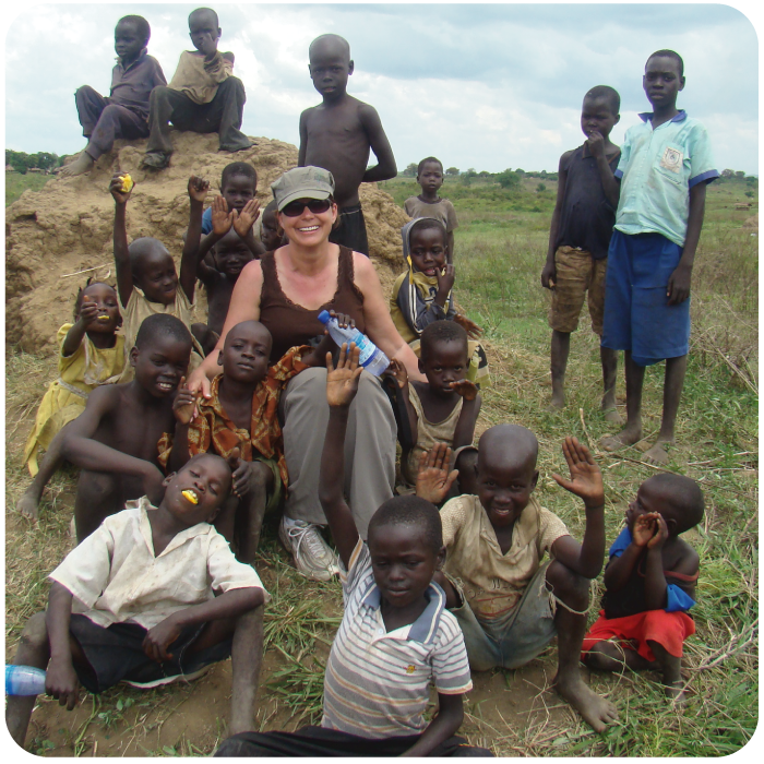 Terri Cooper in Uganda